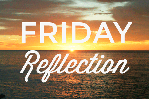 Friday Reflection: Going After Goals