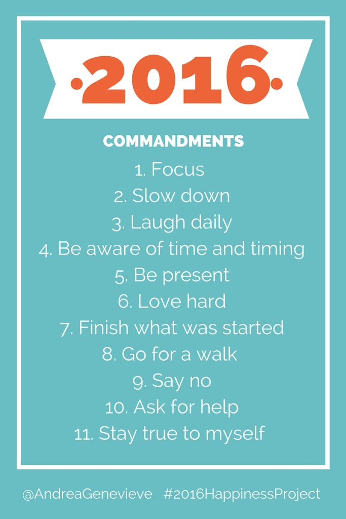 11 Commandments to Help You Through 2016